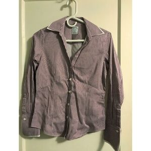 Brooks Brothers Fitted Stretch Striped Blouse